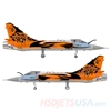 Picture of HSDJETS Mirage2000 Foam Turbine Tiger Colors PNP Vectoring