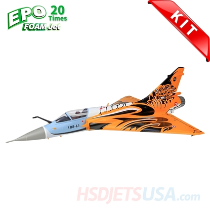 Picture of HSDJETS Mirage2000 Foam Turbine Tiger Colors KIT Vectoring