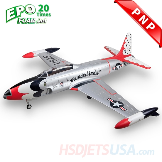 Picture of HSDJETS T-33 Foam Turbine Thunderbirds Colors PNP XT60 plug