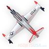 Picture of HSDJETS T-33 Foam Turbine Thunderbirds Colors PNP XT60 plug