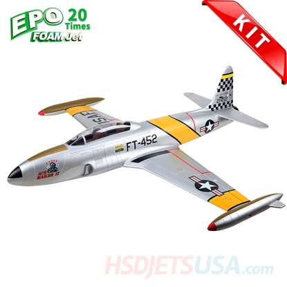 Picture of HSDJETS T-33 Foam Turbine Yellow ribbon Colors KIT