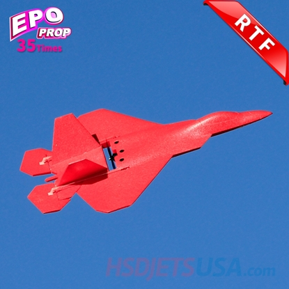 Picture of HSDJETS Mini Parkflyer F22-580 Red RTF 2S Mode2