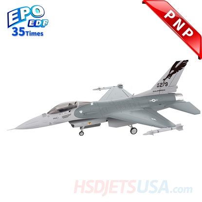 Picture of HSDJETS 105mmEDF F-16 Grey Colors PNP 12S