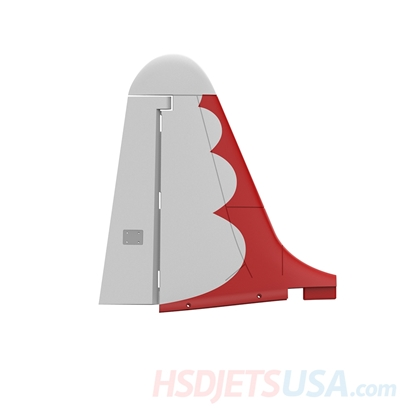 Picture of HSDJETS T-33 Foam Turbine Thunderbird Colors Vertical tail