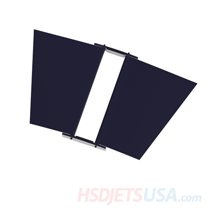 Picture of HSDJETS T-33 Foam Turbine Thunderbird Colors Left and right of landing gear cover plate