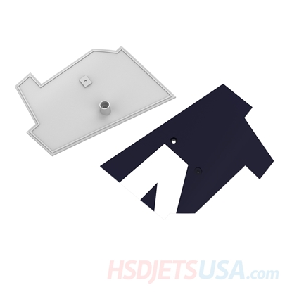 Picture of HSDJETS T-33 Foam Turbine Thunderbird Colors landing gear baffle B left and right