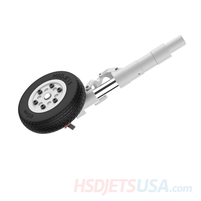 Picture of HSDJETS T-33 Rear left gear Hydraulic leg + brake wheel (excluding control panel)