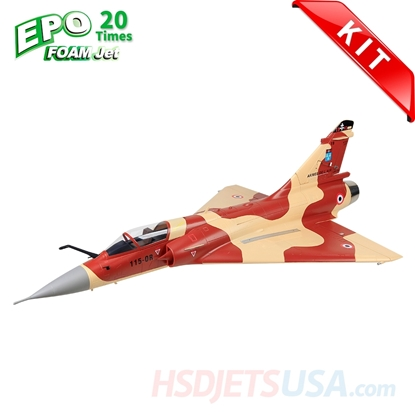 Picture of HSDJETS Mirage2000 Foam Turbine Desert Rat  Camo Colors KIT Vectoring