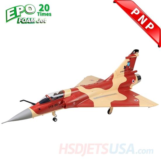 Picture of HSDJETS Mirage2000 Foam Turbine Desert Rat  Camo Colors PNP Vectoring