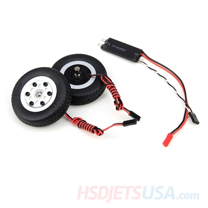 Picture of HSDJETS S-EDF 105mm F-16 left and right brake wheels with Control panel