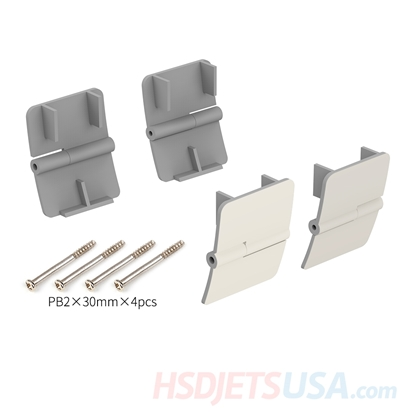 Picture of HSDJETS F-16 grey color Rear wheel cover hinge