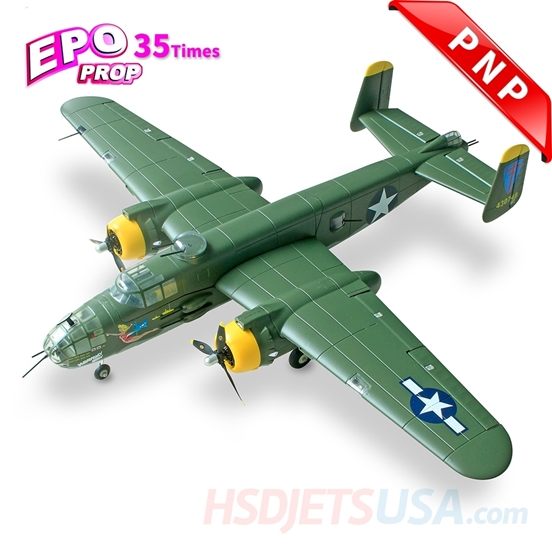 Picture of HSDJETS 1250mm HB-25 Green Colors PNP