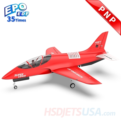 Picture of HSDJETS S-EDF 105mm Super Viper Red Colors PNP 12S