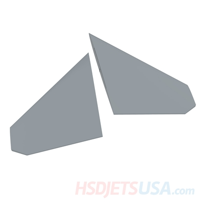 Picture of HSDJETS S-EDF 105mm HF-16 Grey color left and right horizontal tail
