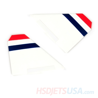 Picture of HSDJETS S-EDF 105mm HF-16 hunderbirds color left and right horizontal tail