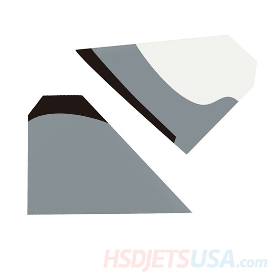 Picture of HSDJETS S-EDF 105mm HF-16 Black and white Snow Camo color left and right horizontal tail