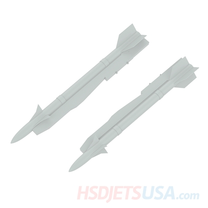 Picture of HSDJETS S-EDF 105mm HF-16 Grey color left and right Missiles