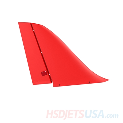 Picture of HSDJETS S-EDF 105mm Super Viper Red color Vertical tail