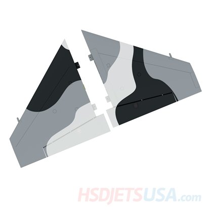 Picture of HSDJETS S-EDF 105mm HF-16 Black and white Snow Camo color left and right main wing