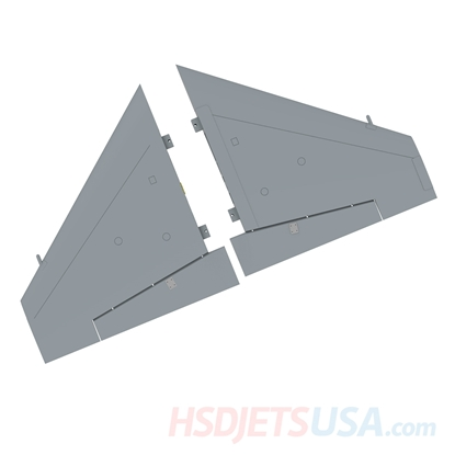 Picture of HSDJETS S-EDF 105mm HF-16 Grey color left and right main wing
