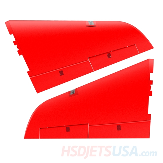 Picture of HSDJETS S-EDF 105mm Super Viper Red color left and right main wing