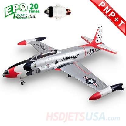 Picture of HSDJETS T-33 Foam Turbine Thunderbirds Colors PNP+SWH-80B