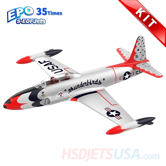 Picture of HSDJETS S-EDF 120mm HT-33 Thunderbirds Colors KIT