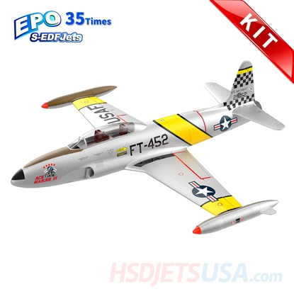 Picture of HSDJETS S-EDF 120mm HT-33 Yellow ribbon Colors KIT