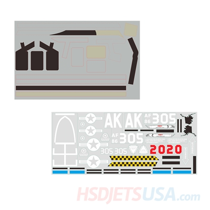 Picture of HSDJETS HF-16 Black Camo Colors decal