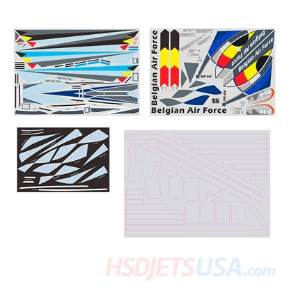 Picture of HSDJETS HF-16 Belgian Colors decal