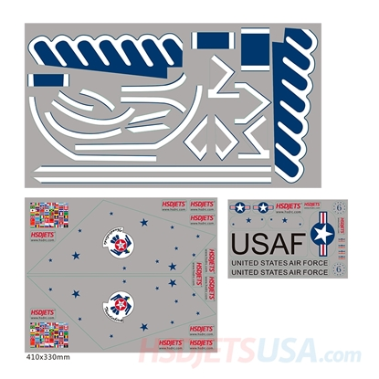 Picture of HSDJETS HF-16 Thunderbirds Colors decal