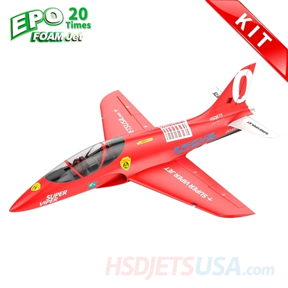 Picture of HSDJETS Super Viper Foam Turbine Red Colors KIT