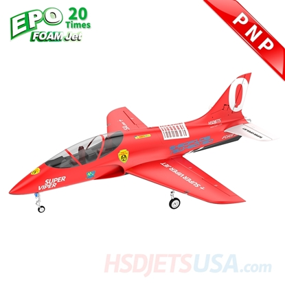 Picture of HSDJETS Super Viper Foam Turbine Red Colors PNP