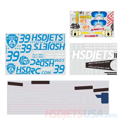 Picture of HSDJETS HL-39 Blue Camo Colors decal