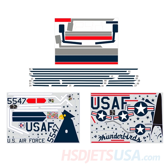 Picture of HSDJETS HT-33 Thunderbirds Colors decal