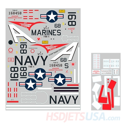 Picture of HSDJETS Super Viper Navy Colors decal