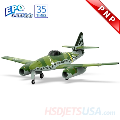 Picture of HSDJETS Double S-EDF90mm HME-262 Green Camo Colors PNP
