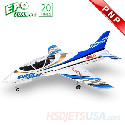 Picture of HSDJETS Super Viper Foam Turbine Blue Gold Colors PNP