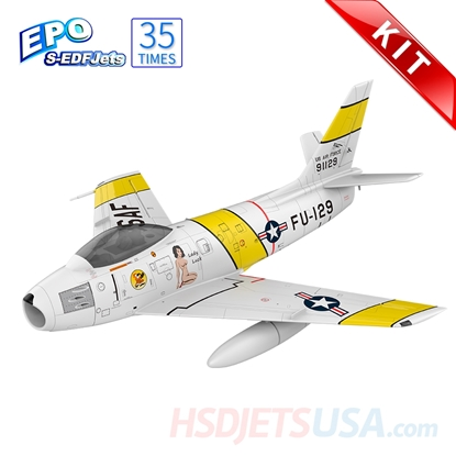 Picture of HSDJETS S-EDF 120mm HF-86 Yellow ribbon Colors KIT